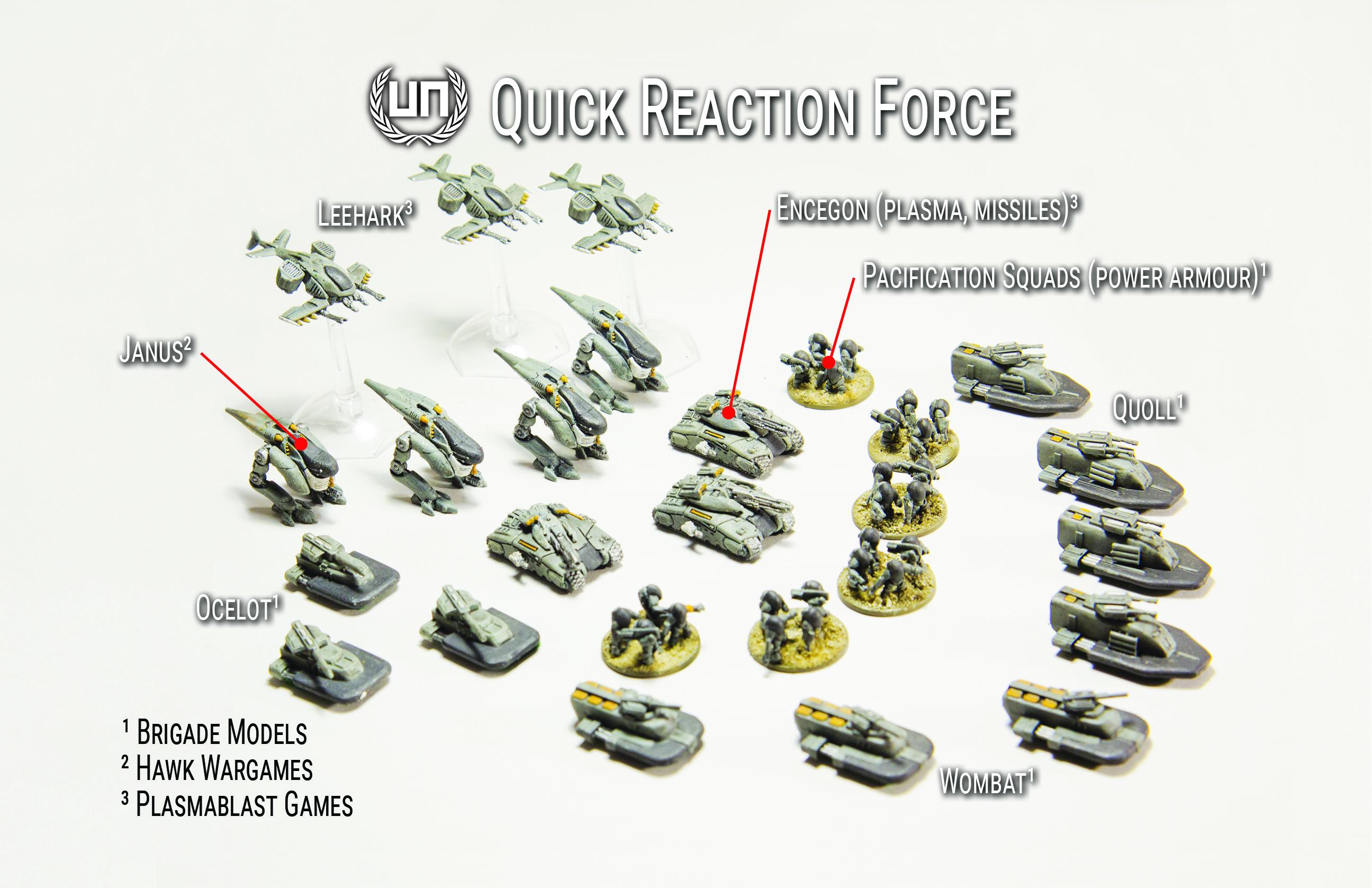 UN Quick Reaction Force Miniatures